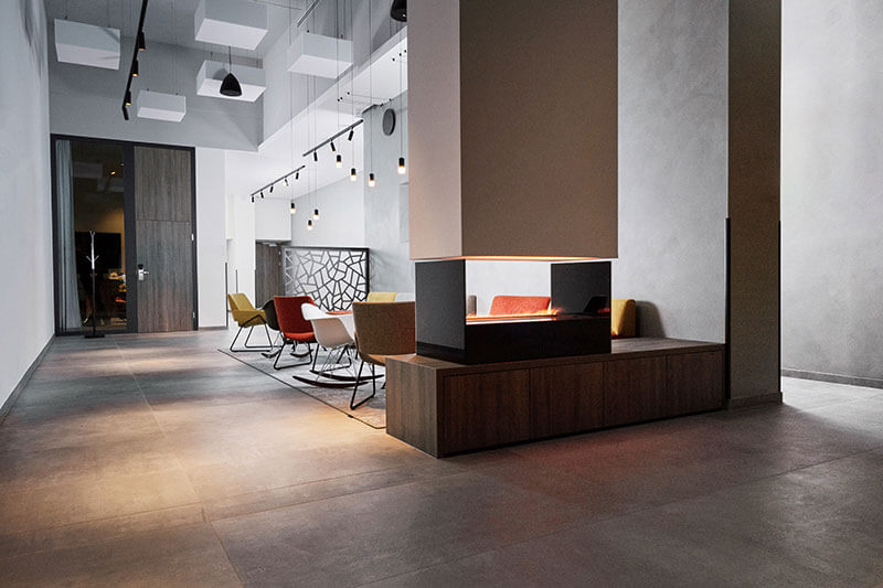 Beleuchtung Lounge Das Rainers21 by Peckal Agency, Flos Österreich